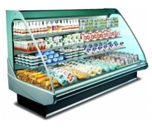 полувертикальная холодильная горка
