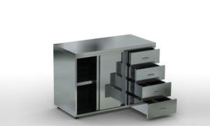 стол из нержавеющей стали для общепита
